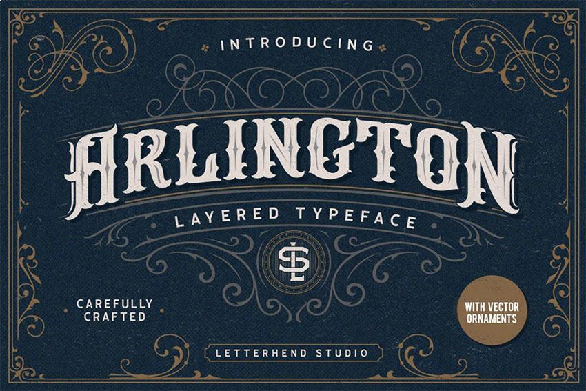 Arlington Layered Fonts  Ornaments