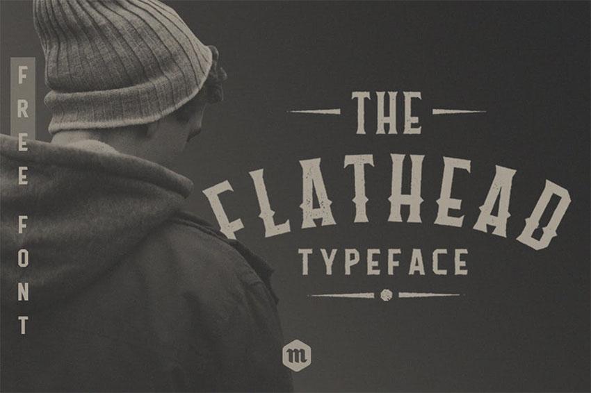 Flathead TypefaceVintage Font
