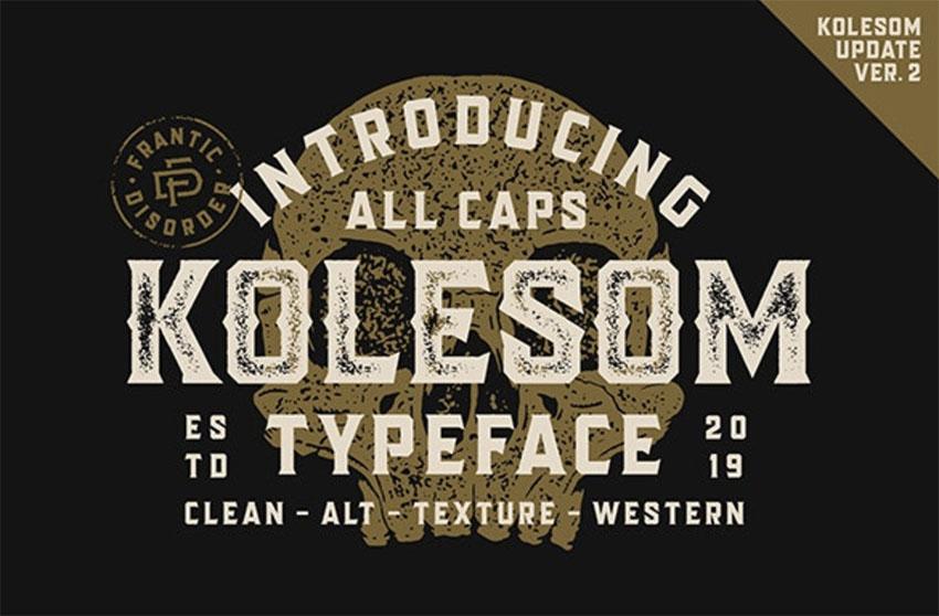 Kolesom Typeface