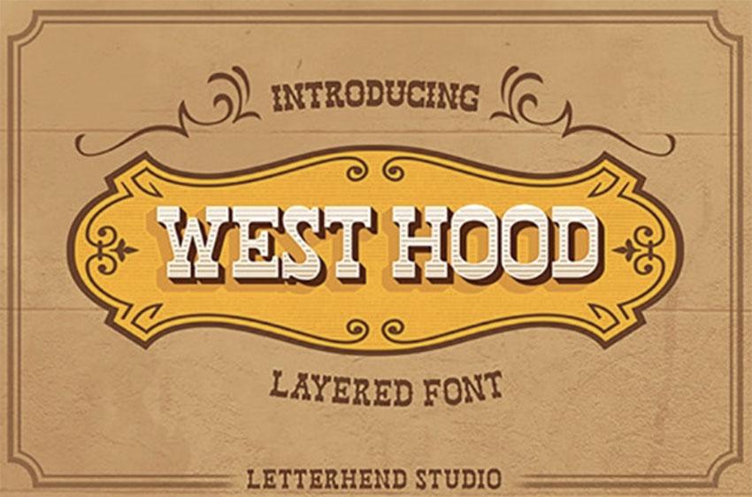 West Hood 6 Fonts