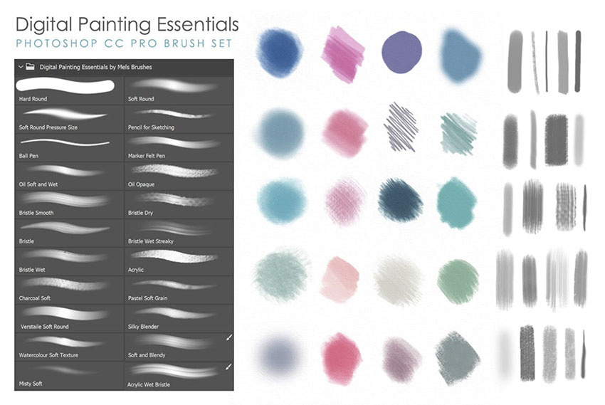 Artistic  Matte Painting Photoshop Brush Set