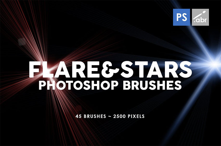 45 Lens Flare and Star Brush Photoshop