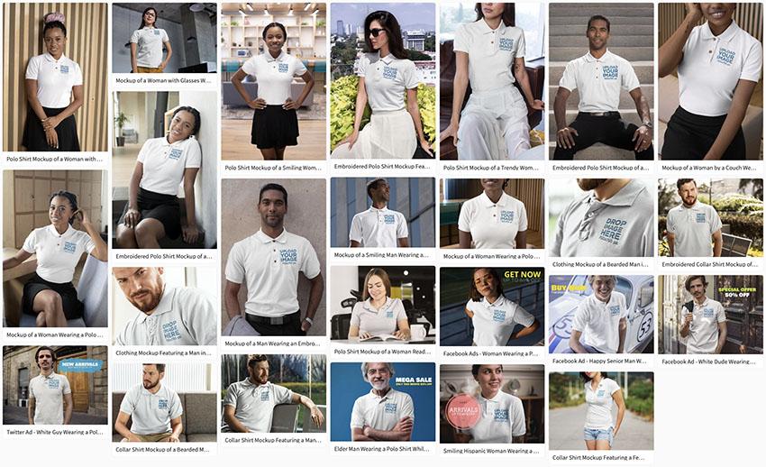 Select a Polo Shirt Mockup You Like