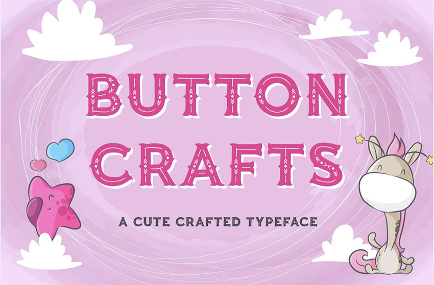 Button Craft Cool Fonts for Kids