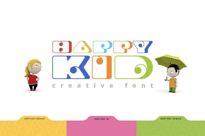 Happy Kid Child Font Style