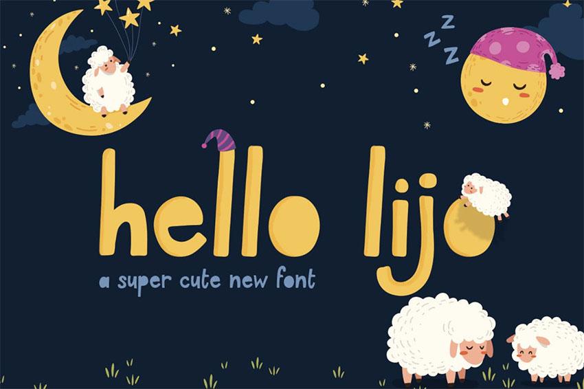 Hello Lijo Best Font for Kids