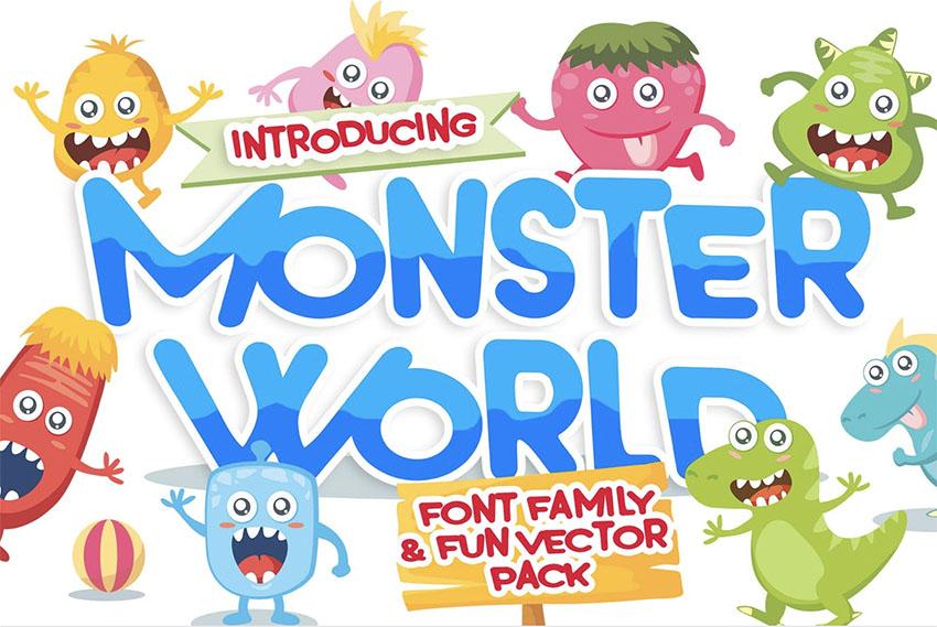 Monster World Kid-like Fonts