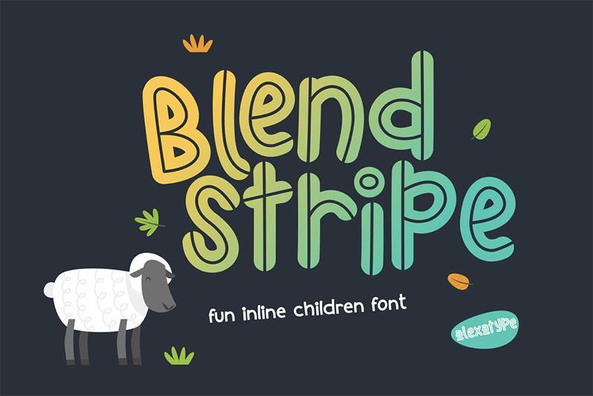 Blendstripe Best Font for Kids
