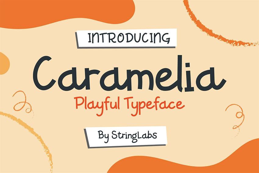 Caramelia Kids Play Font