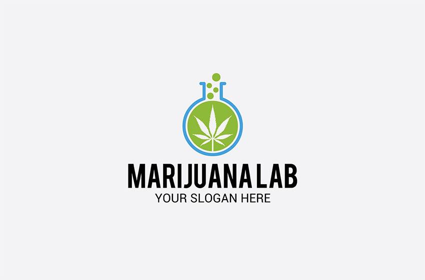 Cannabis Leaf Template