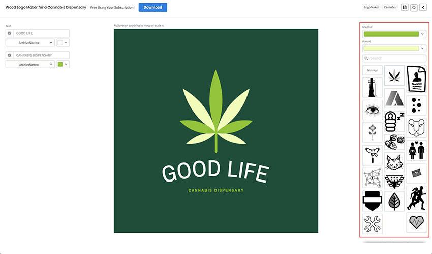 How to Make a Marijuana Plant Logo using a Cannabis Logo Maker