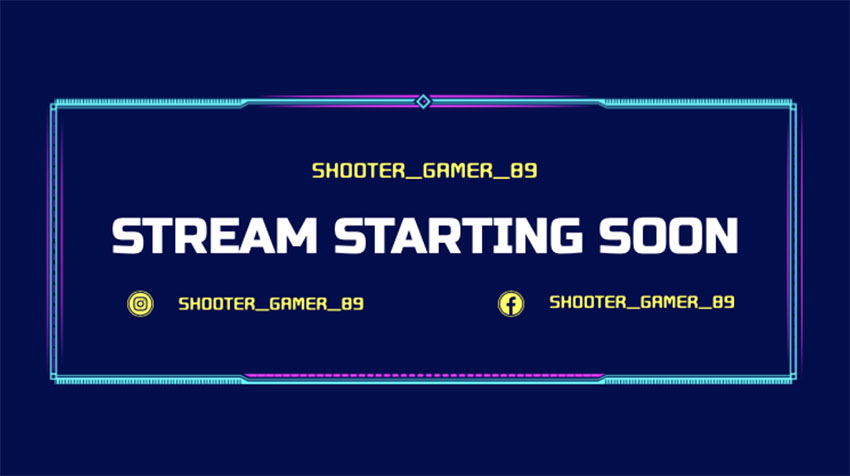 Stream Starting Soon Overlay