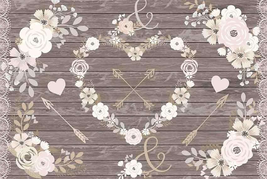 Spring Flower Heart Clip Art