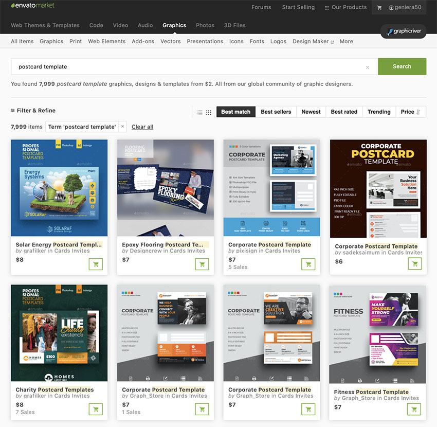 More Premium Postcard Design Templates from GraphicRiver