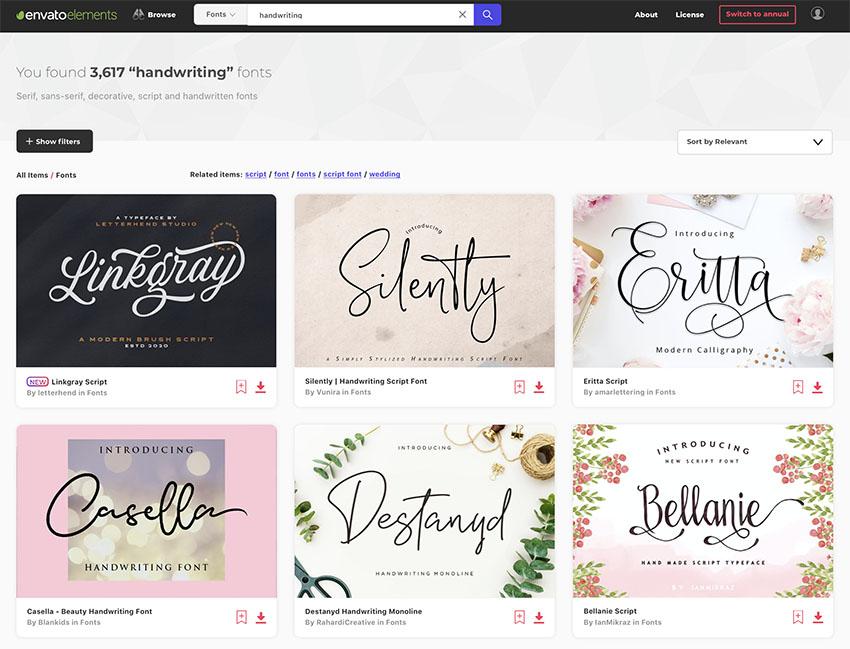 Handwriting Font at Envato Elements