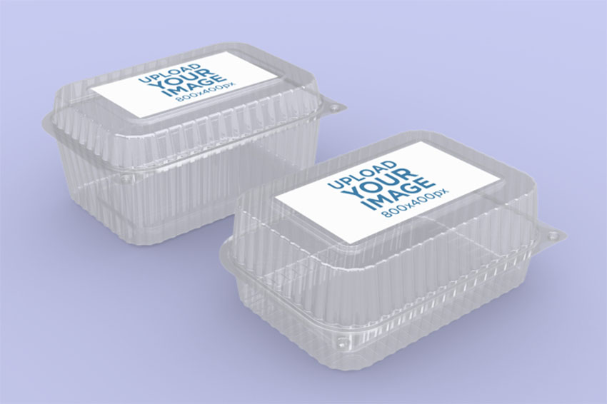 Logo Mockup of Two Food Boxes
