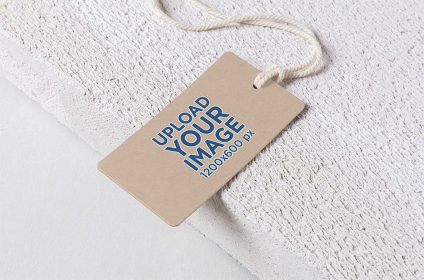Logo Mockup of a Cardboard Label Tag
