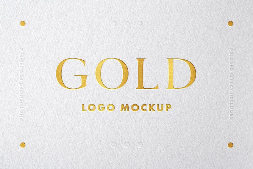 Gold Logo Mockups