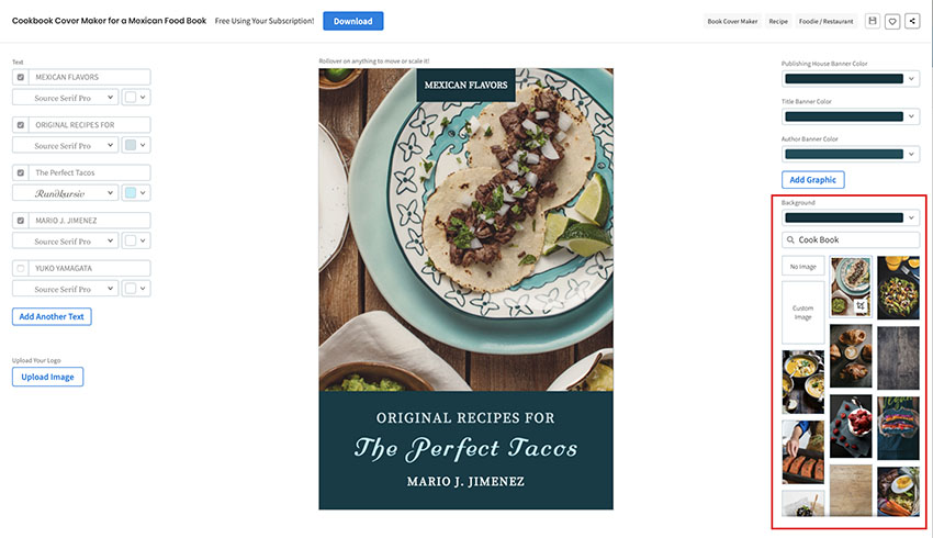 Cookbook Cover  Template