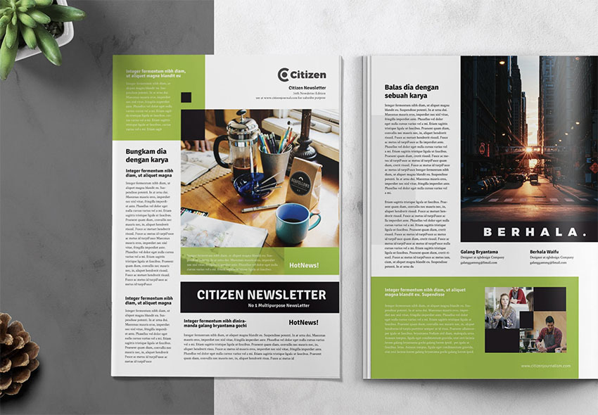 22 Best Free Newsletter Templates Indesign Psd And Word Newsletter Templates