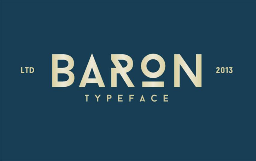 Baron Free Monogram Font