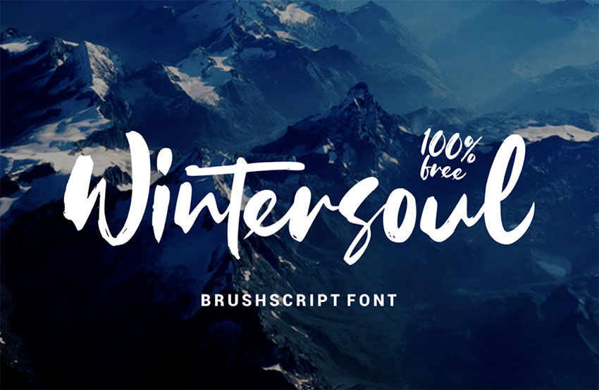 Wintersoul - Free Brush Script Monogram Font