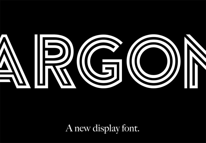 Argon -  Free Monogram Font