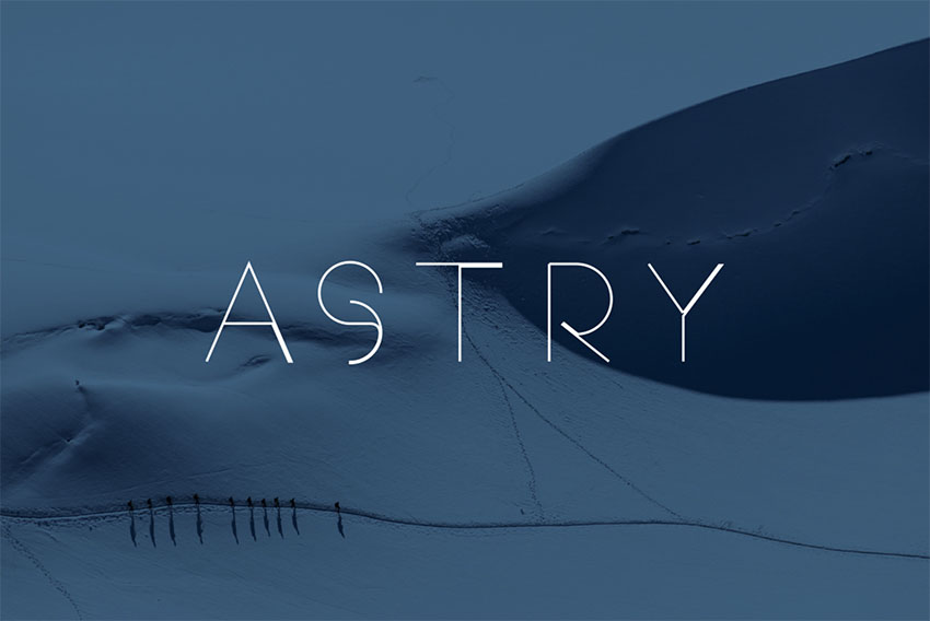 Astry - Free Monogram Fonts