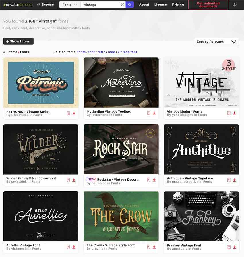 25 Best Free Vintage Fonts Free Premium To Download