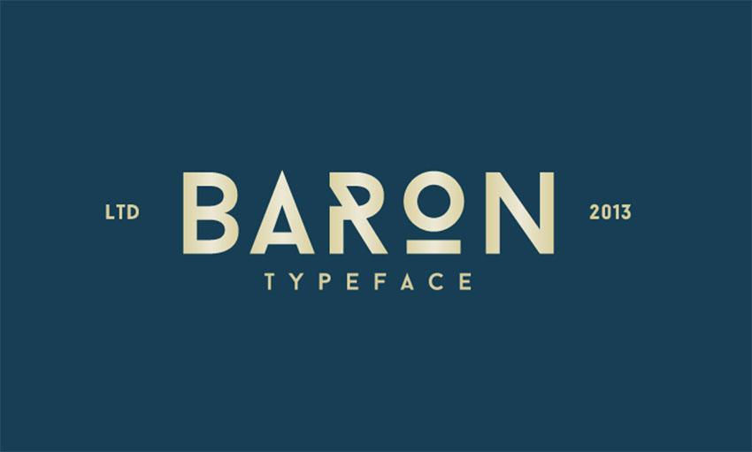 Baron vintage font