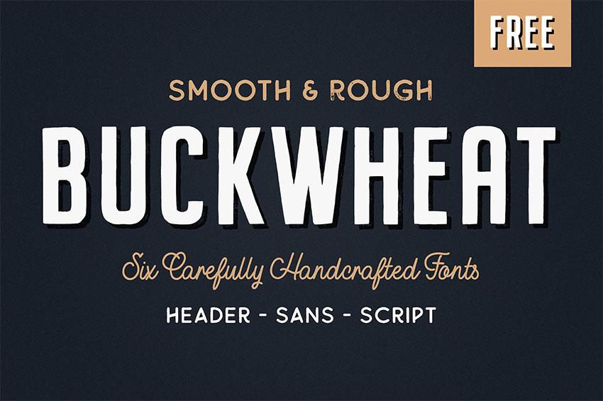 Buckwhat vintage script font
