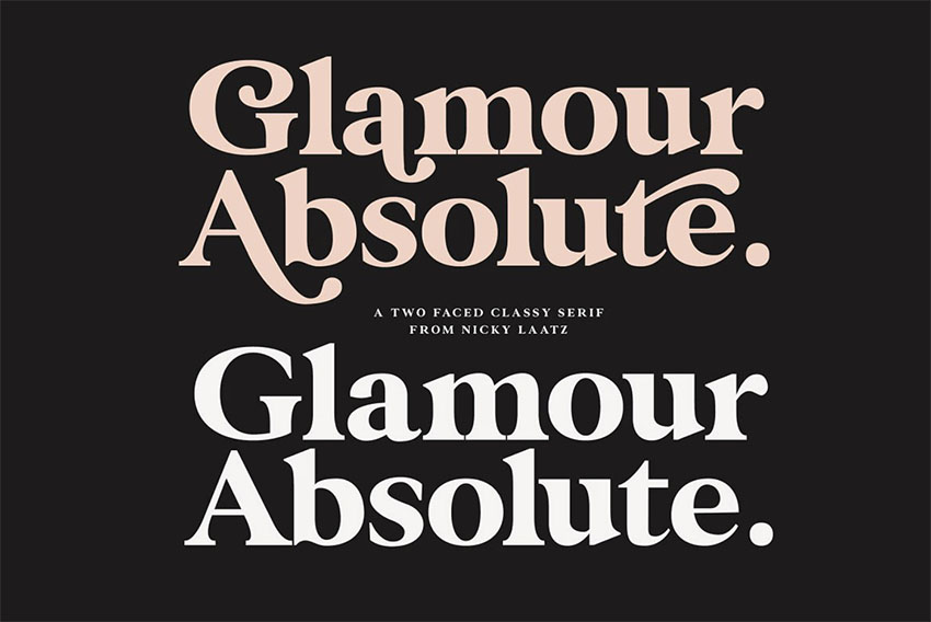 Glamour Absolute vintage lettering fonts