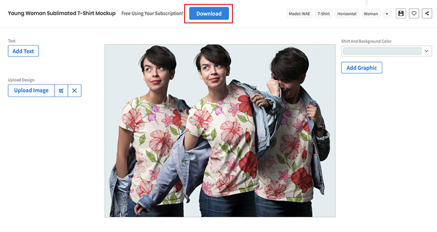 Download your Sublimation T-Shirt