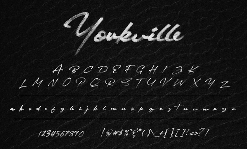 YORKVILLE SVG - FREE SIGNATURE BRUSH FONT