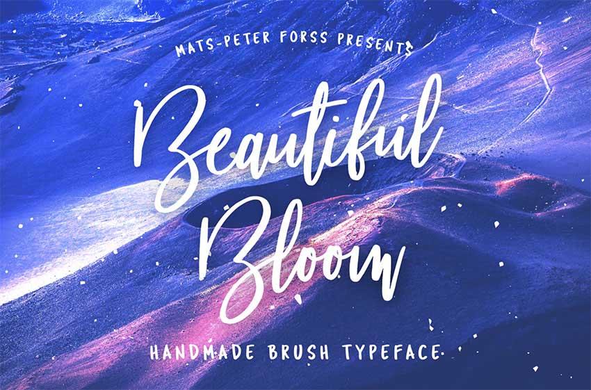 Beautiful Bloom - Free Tattoo Font