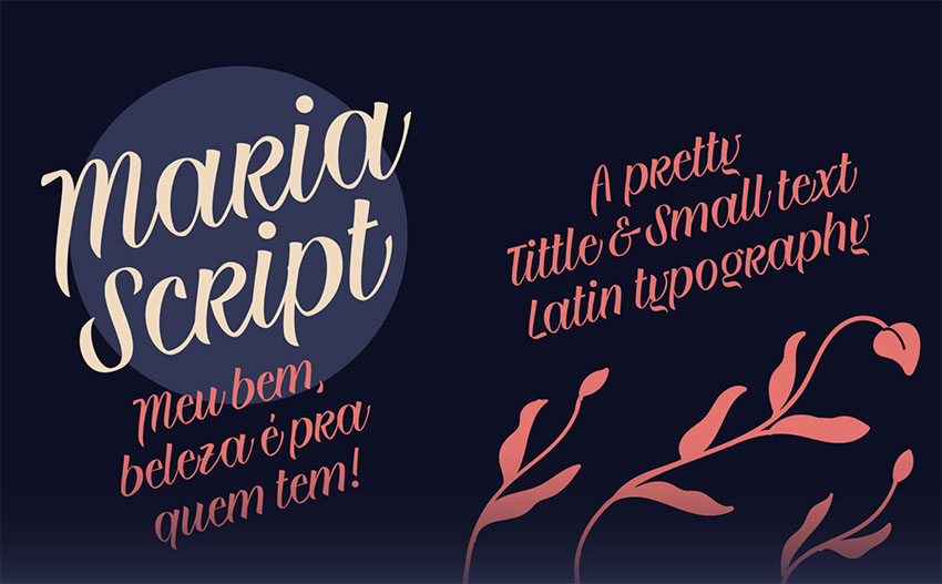 MARIA Script Font