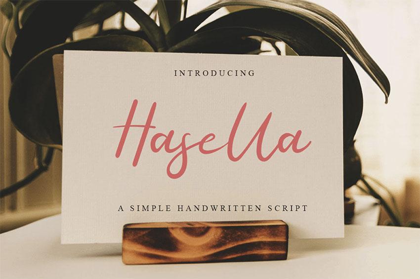 HASELLA - Free Tattoo Fonts