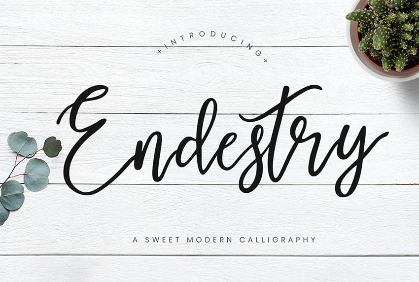 ENDESTRY Free Tattoo Font