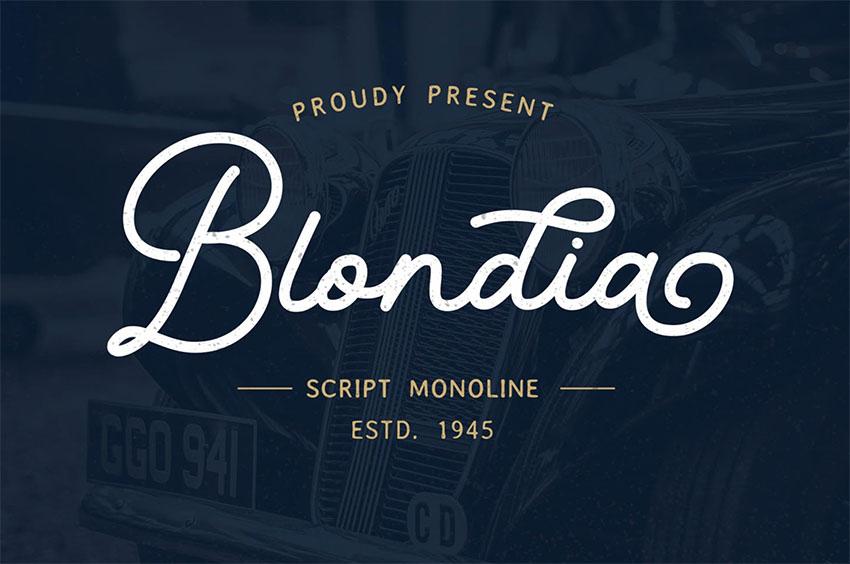 Blondia Tattoo Script Font