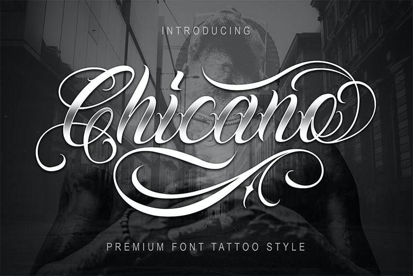 Chicano Tattoo Script Font