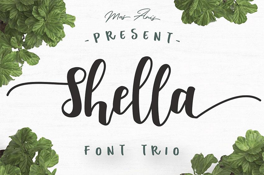 Shella Free Tattoo Font