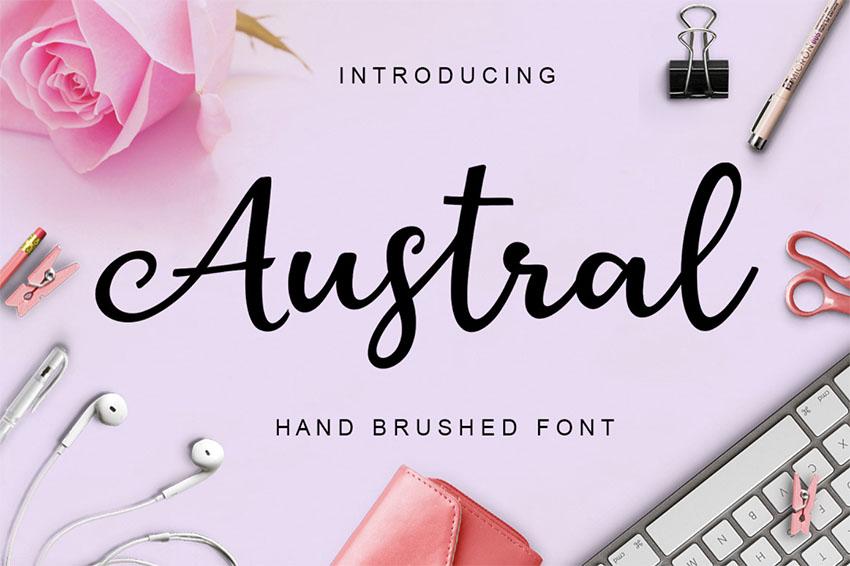 Free Cursive Tattoo Font Austral