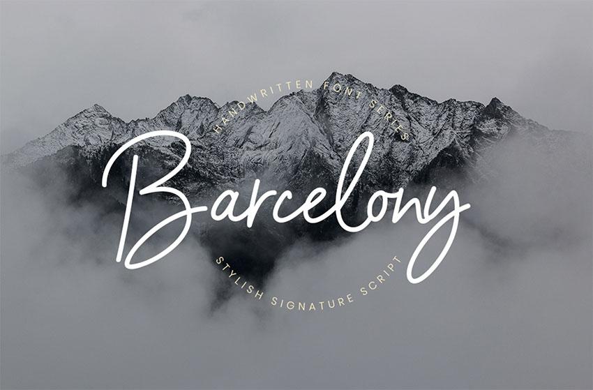 BARCELONY - Tattoo Script Font