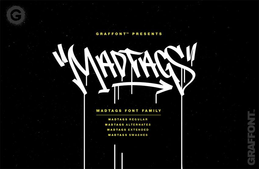 Madtags  Free Graffiti Font