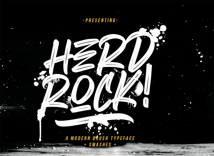 HERDROCK - Free Graffiti Fonts
