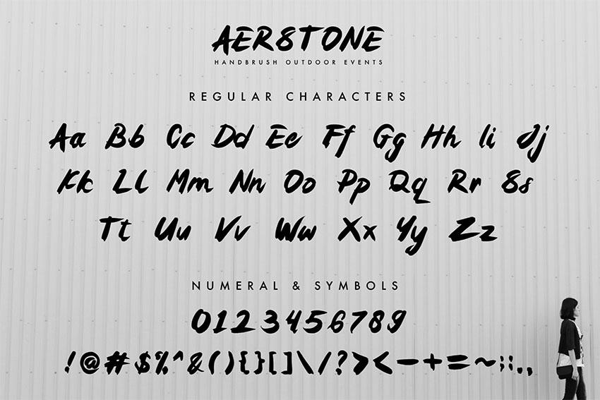 Aerstone Brush Graffiti Font