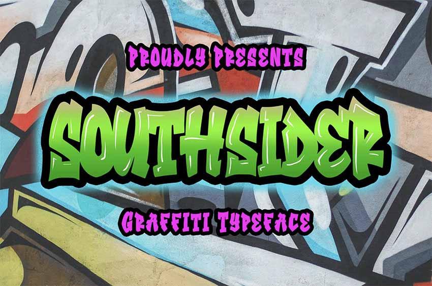 Southsider - Graffiti Font
