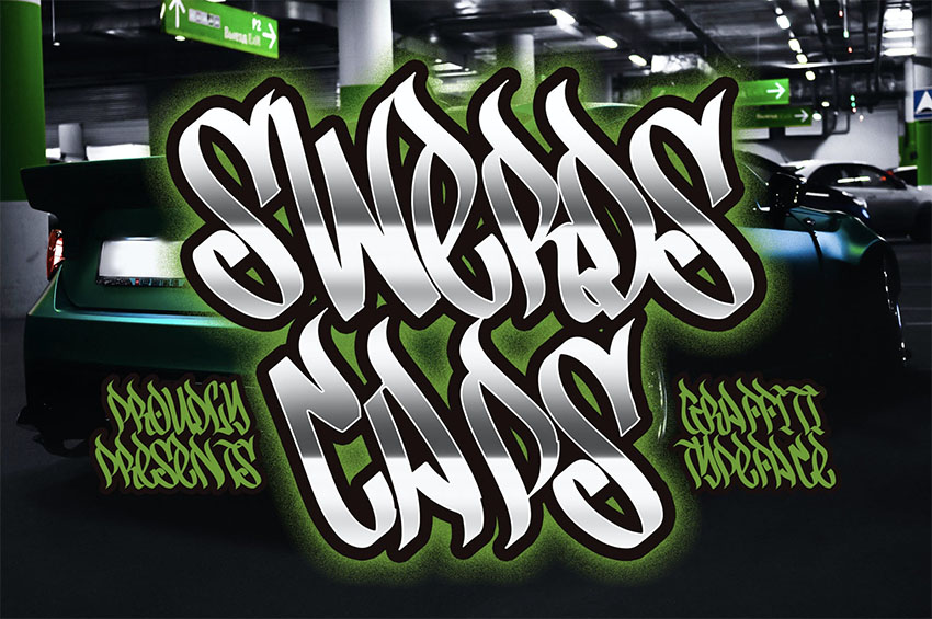 Swerds Caps - Graffiti Font Styles