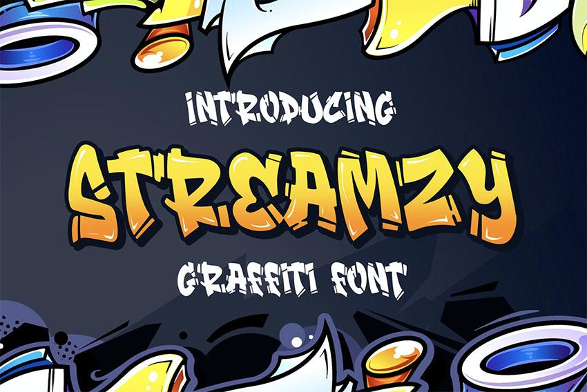 Streamzy - Graffiti Letters Font