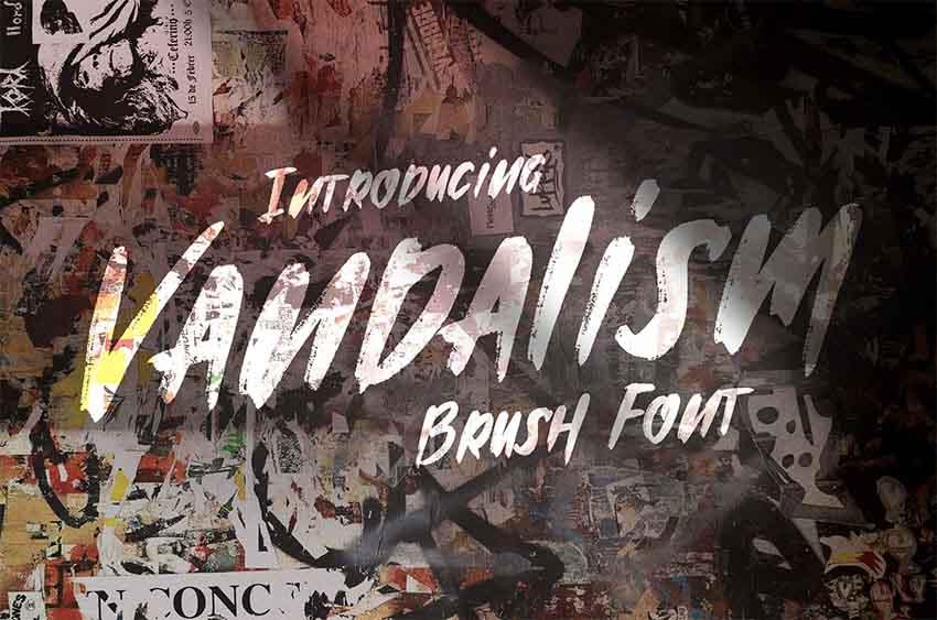 Vandalism - Graffiti Letters Font